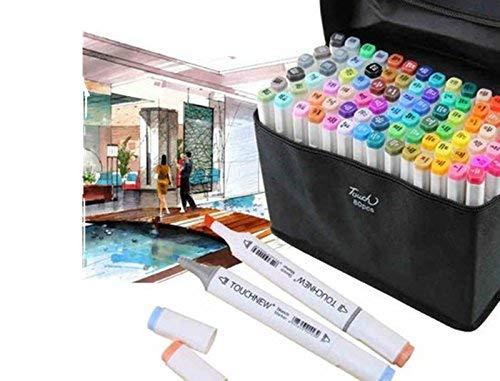 Touch New Marker-Stifte  6, mit Doppelspitze breit   fein, 80 Farben General