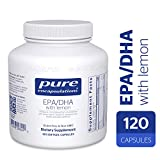 Pure Encapsulations - EPA/DHA with Lemon - Ultra-Pure, Molecularly Distilled Fish Oil Concentrate with Lemon - 120 Softgel Capsules