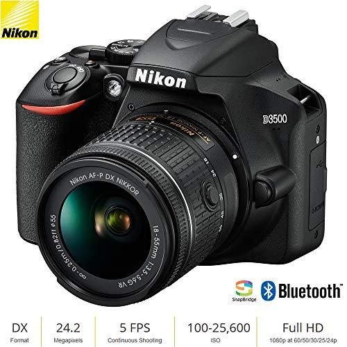 Nikon D3500 24.2MP DSLR Camera with AF-P DX NIKKOR 18-55mm f/3.5-5.6G VR Lens (1590B) - (Renewed)