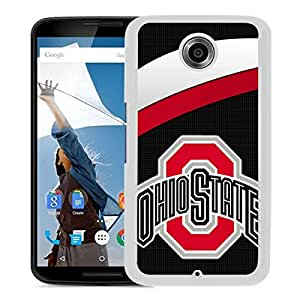 Ncaa Ohio State Buckeyes 47 White Google Nexus 6 Protective Phone Cover Case