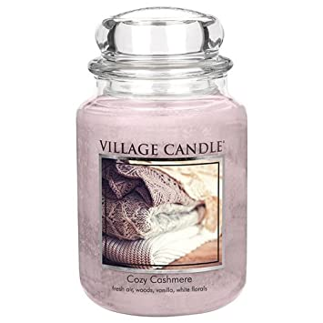 Village Candle Cozy Cashmere 26 oz Glass Jar Scented Candle Large 106026834