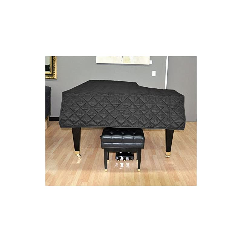 Yamaha C2 Piano Cover - Quilted Black Ny