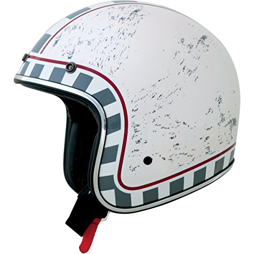 AFX FX-76 MCQ Open Face Helmet White MD