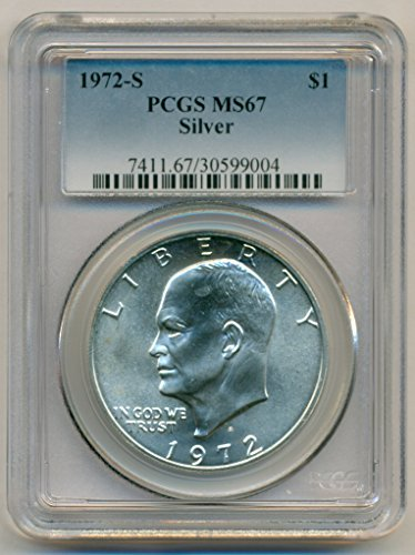 1972 S Eisenhower Silver Dollar MS67 PCGS