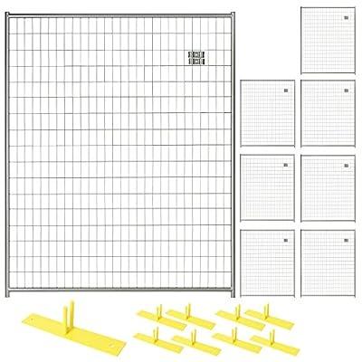 Patrol Portable Security Fence Panel Kit (5'W x 6'H) Black