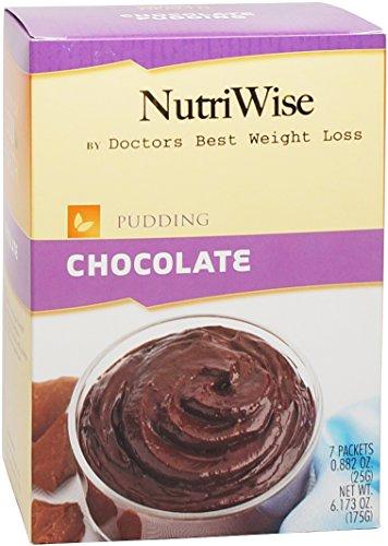 NutriWise - chocolat diète protéinée Pudding (7 / Box)