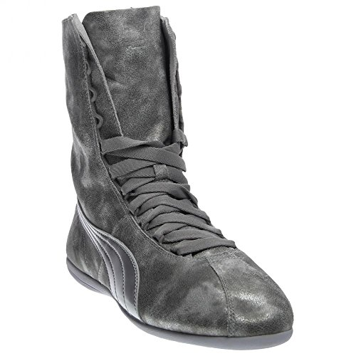 PUMA Women's Eskiva High Metallic Silver Sneaker 5.5 B (M)