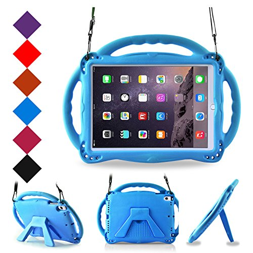 BMOUO Kids Case for New iPad 9.7 inch 2017/2018 - Shoulder Strap Shockproof Handle Stand Case for iPad 9.7 inch 2017/iPad 9.7 inch 2018/iPad Air/iPad Air 2 - Blue by BMOUO (Image #9)