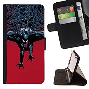 For LG G2 D800 Evil Superhero Style PU Leather Case Wallet Flip Stand Flap Closure Cover