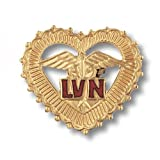 Prestige Medical Emblem Pin, LVN (Letters in Filigreed Heart - California and Texas only)