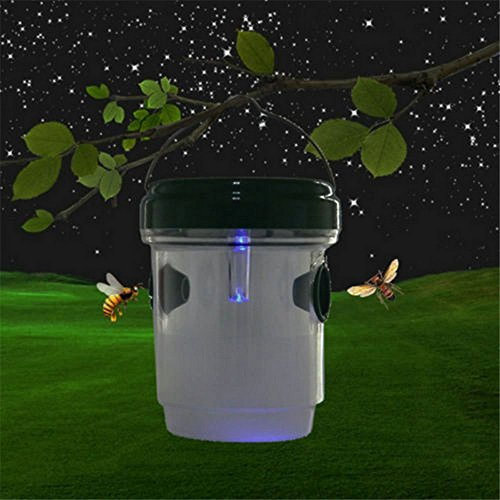8th team 1/2 Pack Life Wasp Trap Catcher, Perfect Outdoor Solar Powered Trap with Ultraviolet LED Light for Yellow Jackets, Bees, Wasps, Hornets, Bugs (1 pack) (Wasp Home Catcher Made)