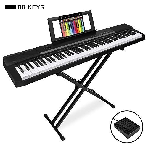 Review Of Best Choice Products 88-Key Full Size Digital Piano Electronic Keyboard Set w/Semi-Weighte...