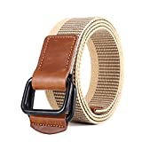 Canvas Belts Gunblack Metal D Ring Buckle Webbing Belt 38mm Wide