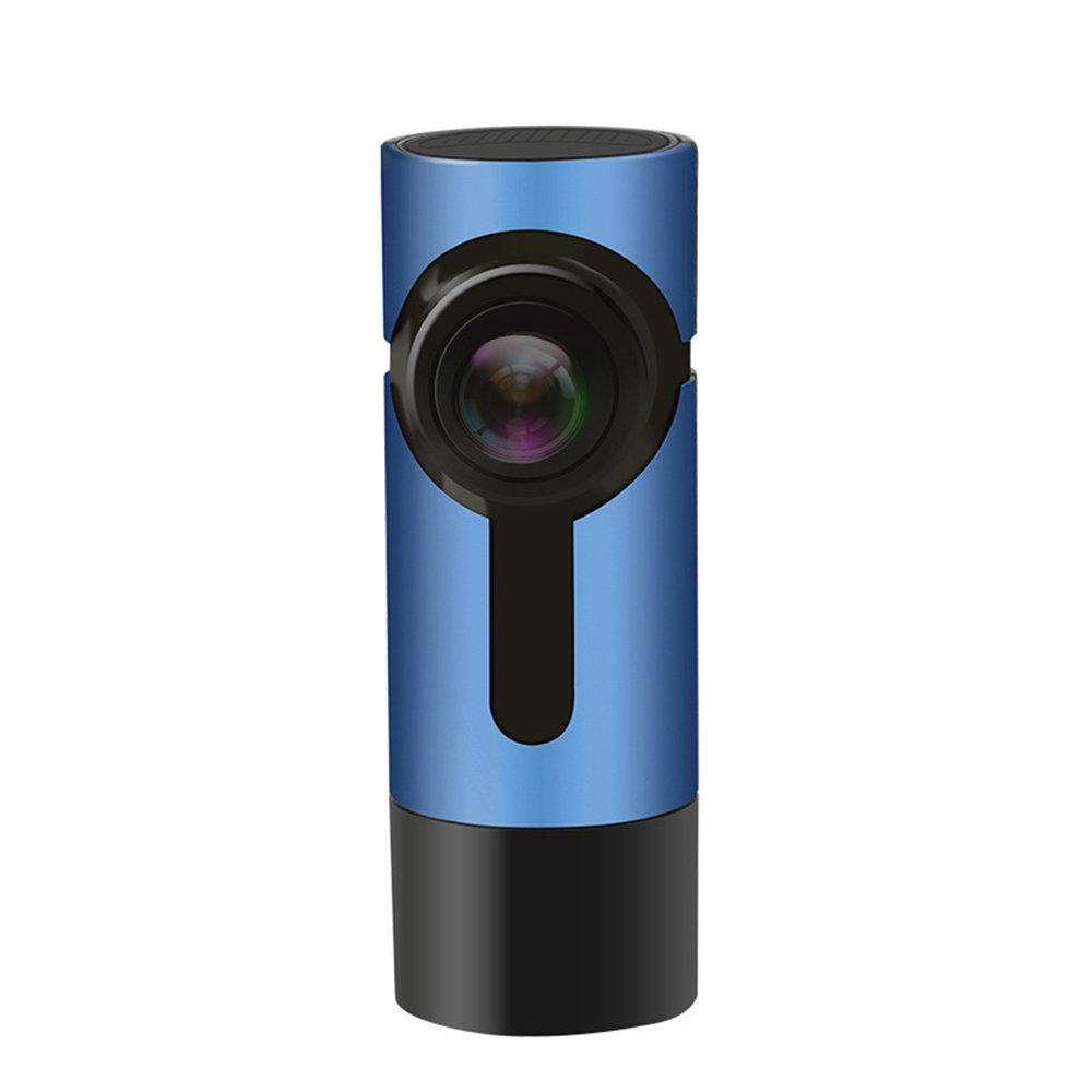 スーパーナイトビジョン、G-センサー、WDR、ループ録音、270°回転角度、モーション検知ドライビングを搭載した車載用のWIFIダッシュカメラ、アップグレードされたFHD 1080Pを隠す B07DPS7WQP  Blue
