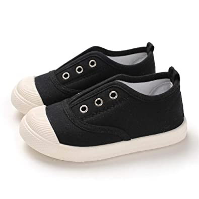 ENERCAKE Toddler Boys Girls Shoes Kids Canvas Sneakers Candy Color Slip-On Lightweight Tennis Shoes