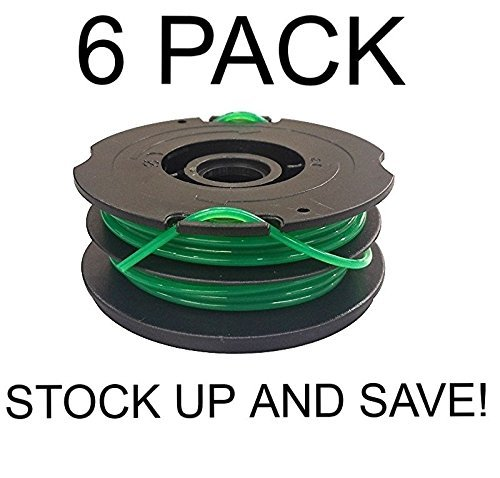 YourStoreFront 6 Pack Dual Line Trimmer Spool for Black & Decker DF-080-BKP
