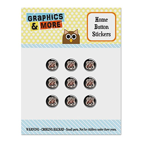 - Hawg Heaven Route 66 Highway Hog Biker Motorcycle Set of 9 Puffy Bubble Home Button Stickers Fit Apple iPod Touch, iPad Air Mini, iPhone 5/5c/5s 6/6s 7/7s Plus
