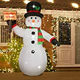AsterOutdoor 8ft Christmas Decorations Built-in LED