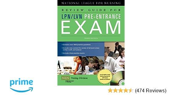 Review Guide For Lpnlvn Pre Entrance Exam 9780763762704 Medicine