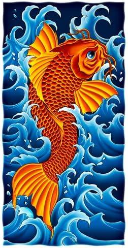 picture of Dawhud Direct KOI Fish Design Super Soft Plush Cotton Beach