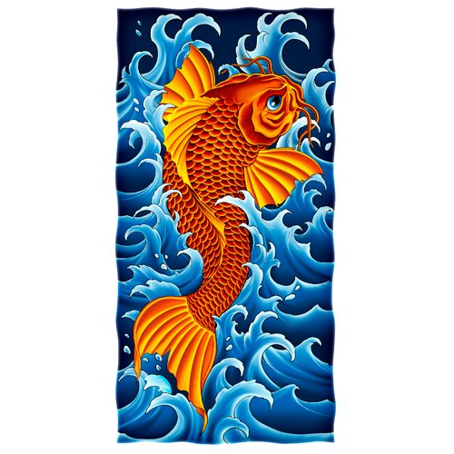 KOI FISH DESIGN Beach/Shower Towel