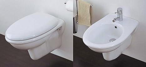 Sanitari Bagno Ceramica Azzurra Elios Sospesi Vaso Wc Sedile
