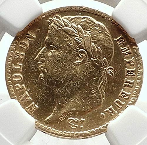 1814 FRANCE Napoleon Bonaparte 20 Francs Antique French Gold Coin NGC - Coins French Gold