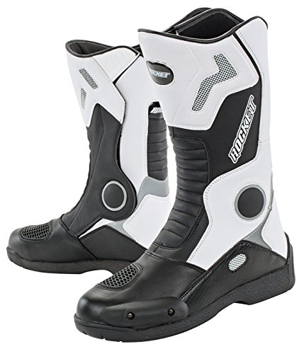 Joe Rocket Men's Water Resistant Touring Boot (White, US Size 11)