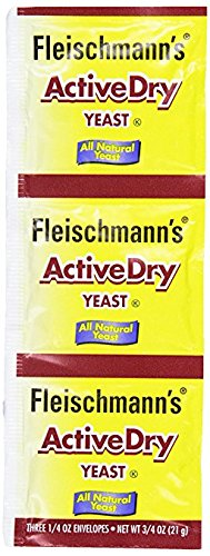 Fleischmann's Active Dry Yeast, The original active dry yeast, 0.75 oz (Pack of 4) (Easy Pound Cake With Self Rising Flour)