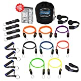 Pilates Kit NEW Bodylastics Heavy Duty Resistance Bands 21 Pcs Fitness Exercise Tubes Set