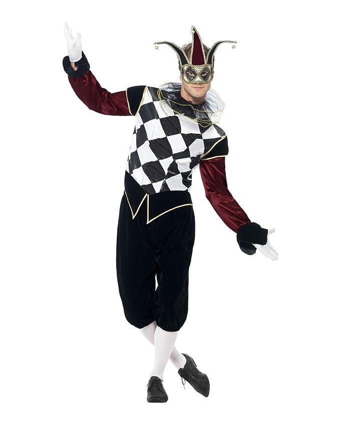 Horror-Shop Veneciana del traje Harlequin L: Amazon.es: Juguetes y juegos
