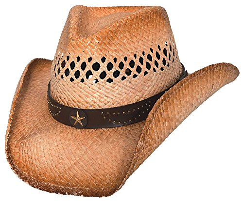 - Bullhide Alanreed - Raffia Straw Cowboy Hat (Small/Medium)