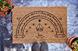 Speak Friend And Enter V3 - Lord of the Rings - The Hobbit - LOTR - Personalized Doormat - Wedding Gift - Housewarming Gift