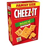 Cheez-It Baked Snack Cheese Crackers, Reduced Fat, Original, Family Size, 19 oz Box(Pack of 12)