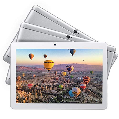 Dragon Touch K10 Tablet, 10 inch Android Tablet with 16 GB Quad Core Processor, 1280x800 IPS HD Display, Micro HDMI, GPS, FM, 5G WiFi, Silver Metal Body