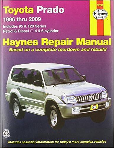 toyota prado 96 09 haynes service and repair manu amazon co