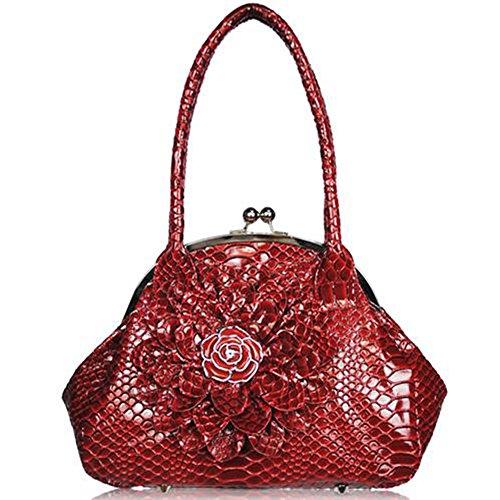 TrendStar - Bolso estilo cartera para mujer V - Red