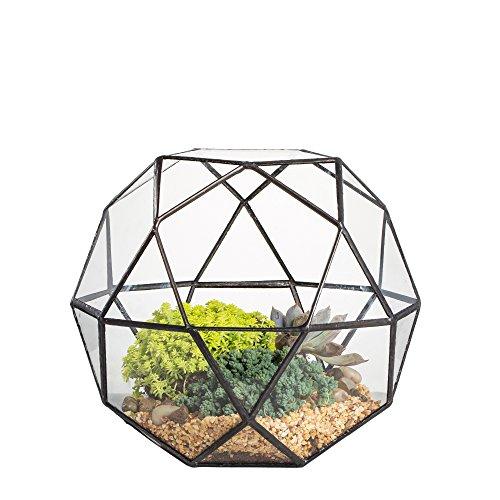 Modern Handmade Artistic Glass Geometric Dome Terrarium T...