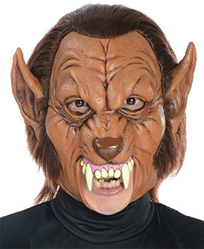 [Werewolf 3/4 Scary Beast Monster Horror Latex Adult Halloween Costume Mask] (Mens Beast Halloween Costume)