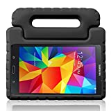 TRAVELLOR Samsung Galaxy Tab 4 8.0 Shockproof Case Light Weight Kids Case Super Protection Cover Handle Stand Case for Kids Children for Samsung Galaxy Tab 4 8-inch (Black, Galaxy Tab 4 8.0)