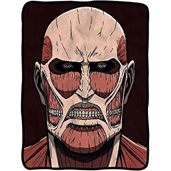 Attack on Titan Colossal Titan Fleece Throw Blanket