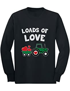 Loads Of Love Dump Truck Valentines Holiday Fun Cute Infant Toddler T-Shirt