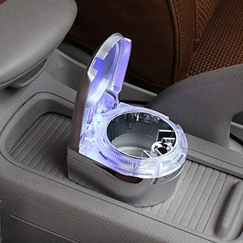 EUEMCH 熱い車および家の使用のための導かれたライトが付いている耐久車の灰皿