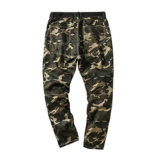 POHOK Clearance Men's Trouser Camouflage Pocket Overalls Casual Pocket Sport Work Casual Pants