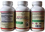 800mg Resveratrol Antioxidants-45 day supply, 90 veggies, Buy 1 get 1 free! 250mg Trans-Resveratrol And Other Powerful Antioxidants, Support Strong Heart, Boost Immune, Joint And Nervous System