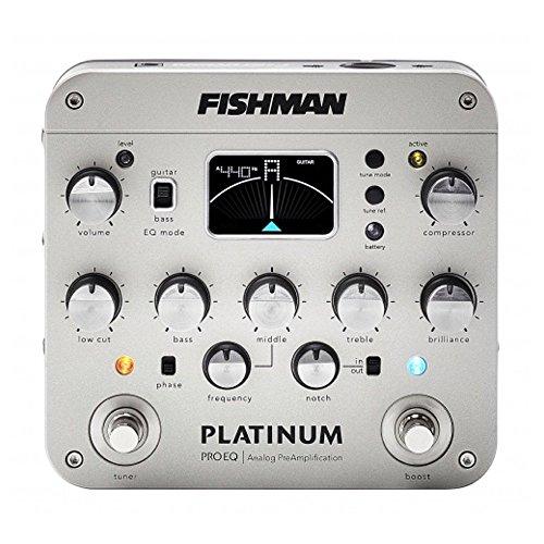 Fishman PRO-PLT-201 Platinum Pro EQ/DI Analog Preamp w/Bonus RIS Picks (x3) 605609152466