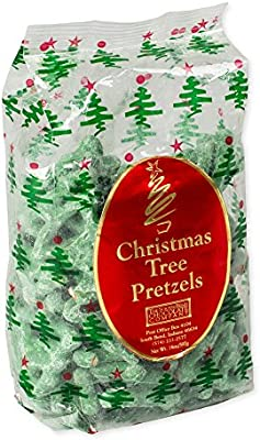 14 oz christmas tree mint pretzels by south bend chocolate company