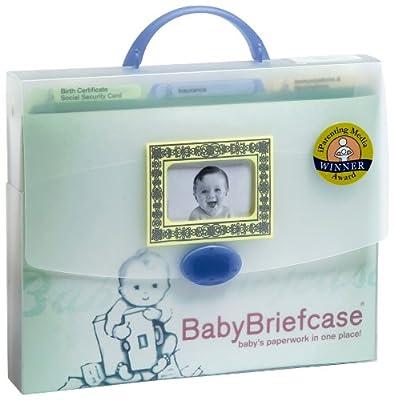 Baby Briefcase Baby Paperwork Organizer Mintperiwinkle by Baby Briefcase