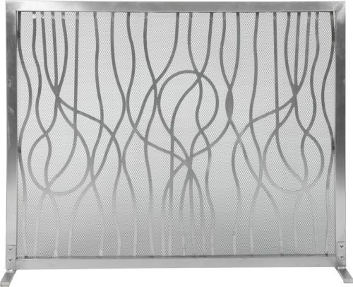 """31"""" H X 39"""" W Panel Screen Stainless Steel Modern Abstract D"""