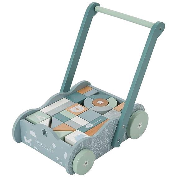 Little Dutch Bloc cart Adventure Bleu: Amazon.es: Juguetes y juegos